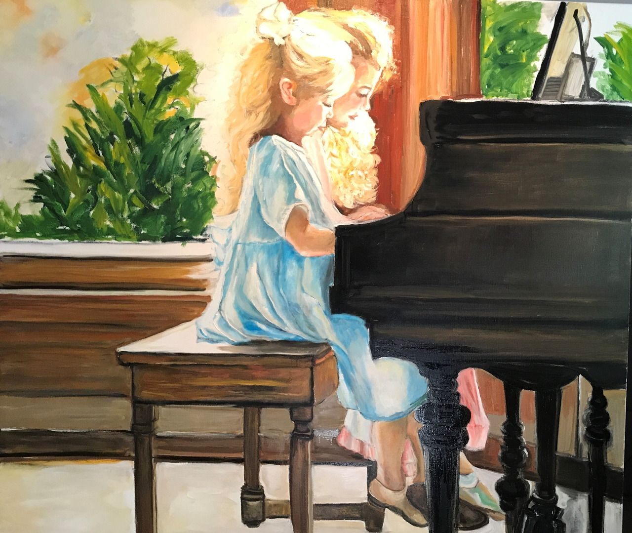 MEISJES AAN PIANO